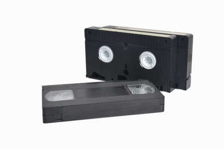 vcr: VHS cassette isolated on white background