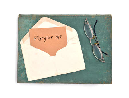 forget me not: vintage envelope and card , forget me not.