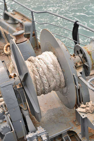 windlass: Anchor winch on a forward of the vessel
