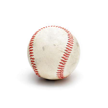 well used baseball isolated on white Reklamní fotografie - 58629119