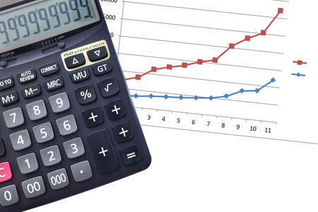 plus sign: Calculator with Plus sign only ,accounting concept with calculator