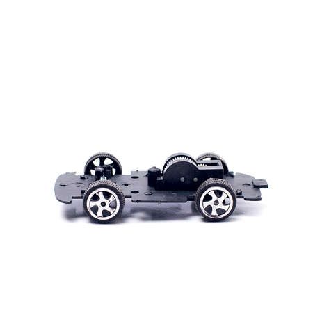 dismantled: The inner mechanical parts of a dismantled toy car.