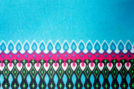 Patterns on colorful fabrics flashy.