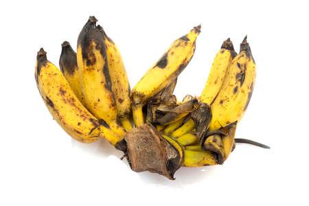 Banana wilt on white background.
