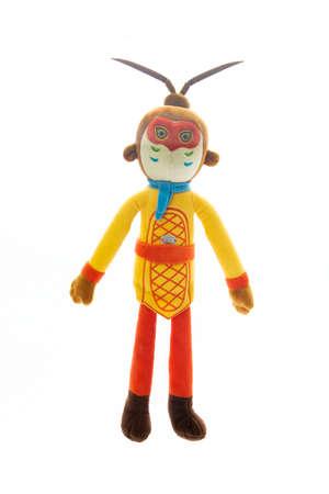 Monkey King doll  Sun Wukong  isolated on white background.