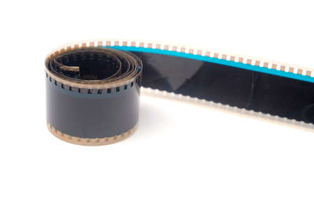 Movie film strips on a white background.