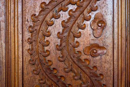 Wood carving , Art of Thailand 版權商用圖片