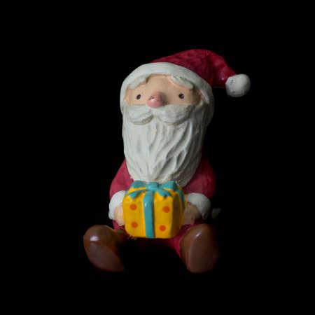 Santa Claus isolated over black background Banco de Imagens