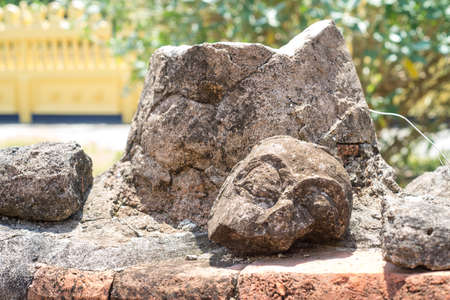 Ancient Buddha fracture damaged