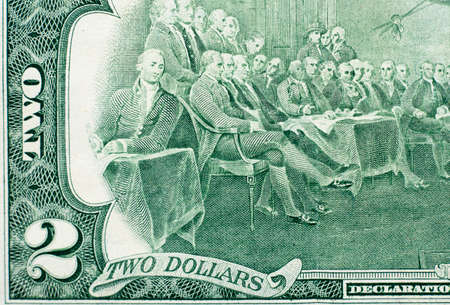 Details on us dollar banknotes. 스톡 콘텐츠