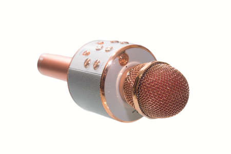 wireless microphone isolated on a white background