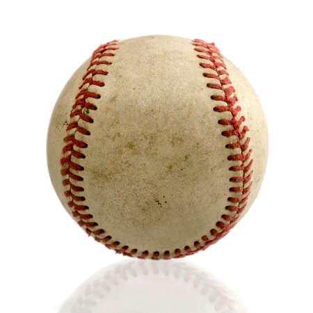 baseball ball on white background. Banco de Imagens