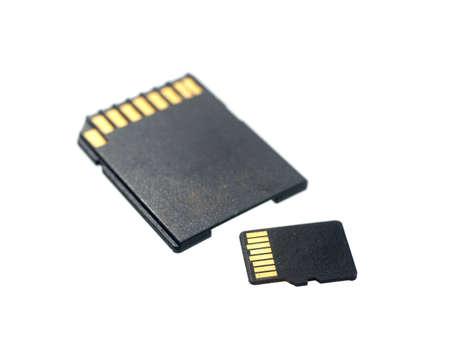 SD card isolated on white background. Archivio Fotografico - 125202393