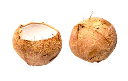 Coconut ready to serve isolated on a white background. Reklamní fotografie