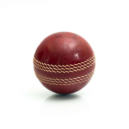 Cricket stress ball isolated on a white background.