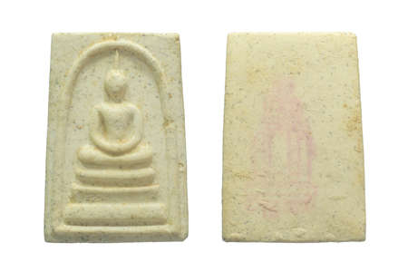 Buddha amulets of Wat Rakhang Khositaram Woramahawiharn Temple. Phra somdej wat rakhang, produced in March 27, 1993
