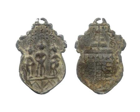 Vaisravana The King of Azura, Ancient amulet of Thailand Reklamní fotografie