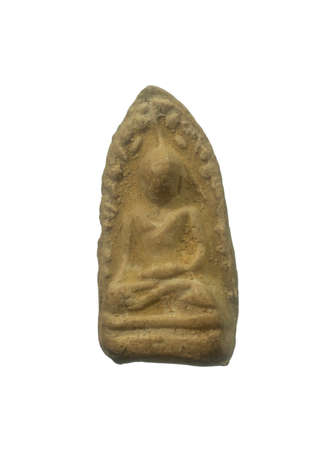 Phra Rod is the oldest amulet in Thailand, found at Wat Mahawan, Lampoon Province in Northern of Thailand. Stock Photo