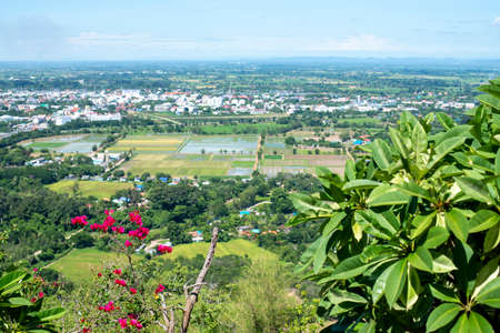 High angle image, View of Thailand