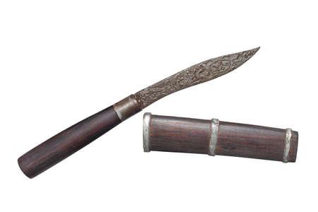 Thai Style Exorcist's Knife of Luang Phor Chab, Khlong Chan Temple, Huai Ngu Subdistrict, Hankha District, Chainat Province