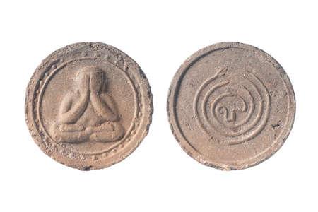 Thai Amulet isolate on a white background. Name
