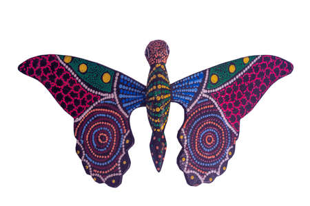 Butterfly wood carving, painting, beautiful, decorative.