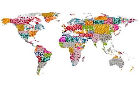 world map form pills