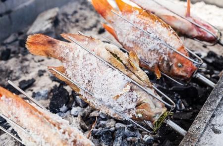 roasting fish photo