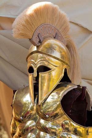 Detalles de una armadura griega Foto de archivo - 11012713