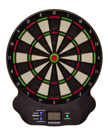 Electronic dart board isolated on white background