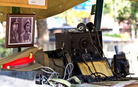 MURCIA, SPAIN - OCTOBER 15:  Military field equipment. Historical military reenacting on October 15, 2011 in Murcia, Spain. Stock Photo - 11652884
