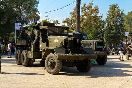 MURCIA, SPAIN - OCTOBER 15:  World War II american trucks. Historical military reenacting on October 15, 2011 in Murcia, Spain. Stock Photo - 11652898