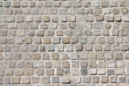 Cobblestone road background pattern photo