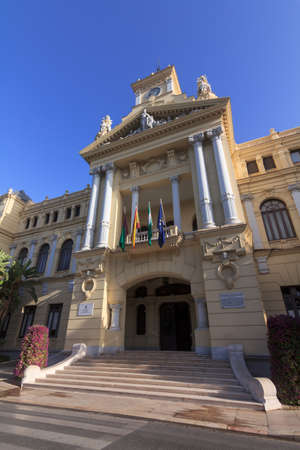 City Hall of Malaga in Andalusia, Spain  Clear blue sky  photo
