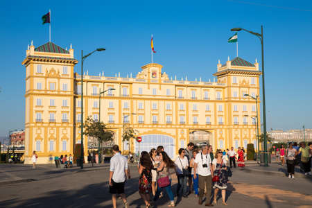 MALAGA, SPAIN - AUGUST 21, 2014: Unidentified people at the august fair of Malaga