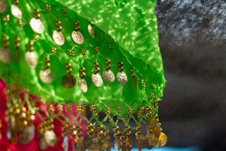 gipsy: Detail of typical gipsy colorful clothes. Shallow depth of field.