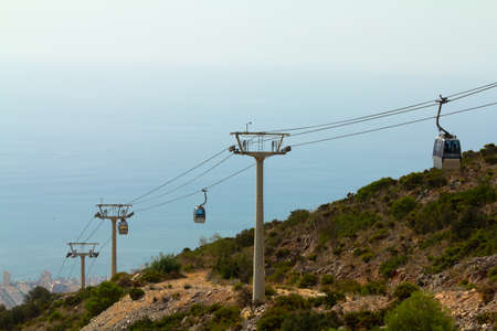Cableway located at Benalmadena, Andalusia, Spain photo