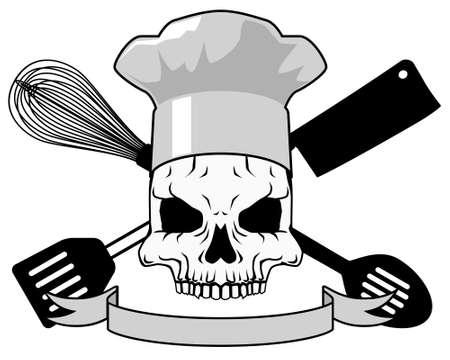 Mort et cuisine - en noir et blanc Banque d'images - 4719425