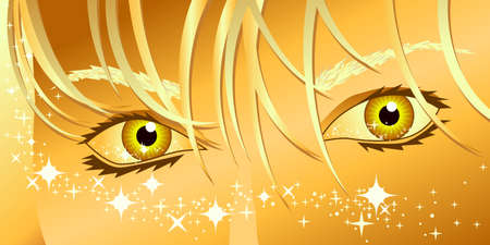 Woman's eyes and magic sparkles Stock Vector - 4719426