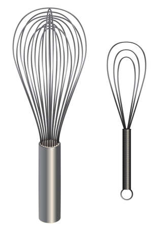 Set of two vector egg beater illustrations