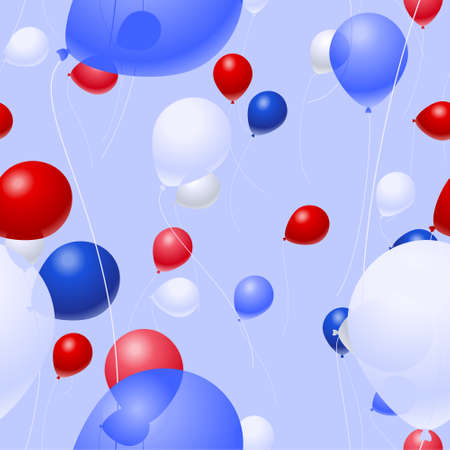 Background pattern of patriotic vector balloons