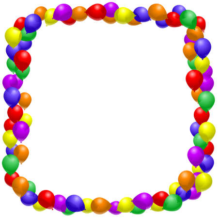 rainbow background: Balloon Frame