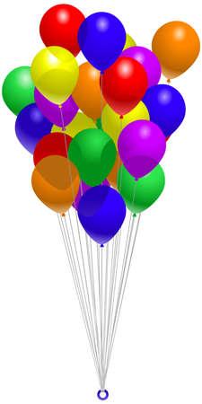 Balloon bunch Vector