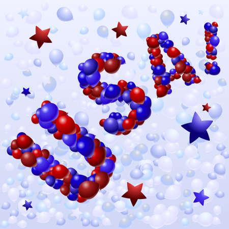 Balloon USA Stock Vector - 4759566