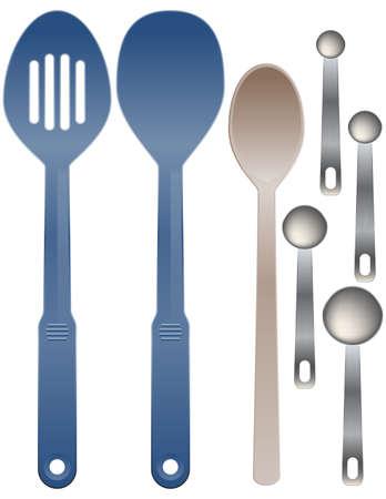 slotted: Spoon illustrations Illustration