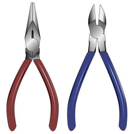 Pliers illustrations Vector
