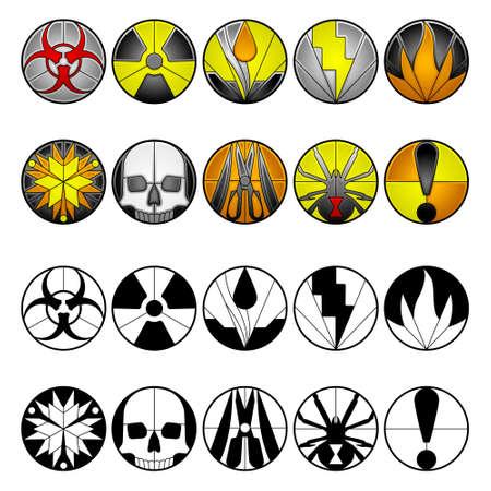 radioactive sign: Hazard icons