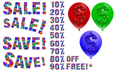 Balloon sale signs