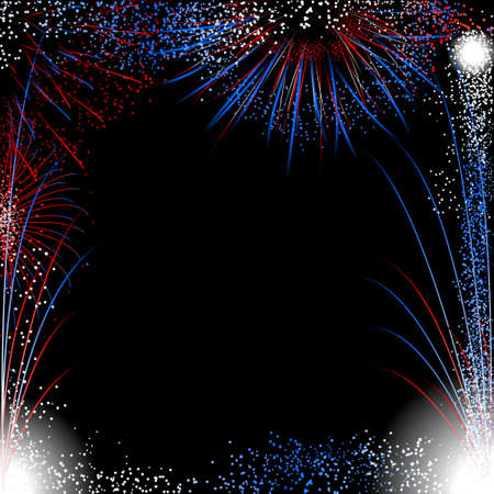 fireworks: Fireworks border Illustration