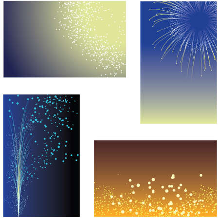 Fireworks backgrounds Stock Vector - 4776624